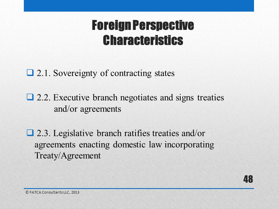 Foreign Perspective Characteristics