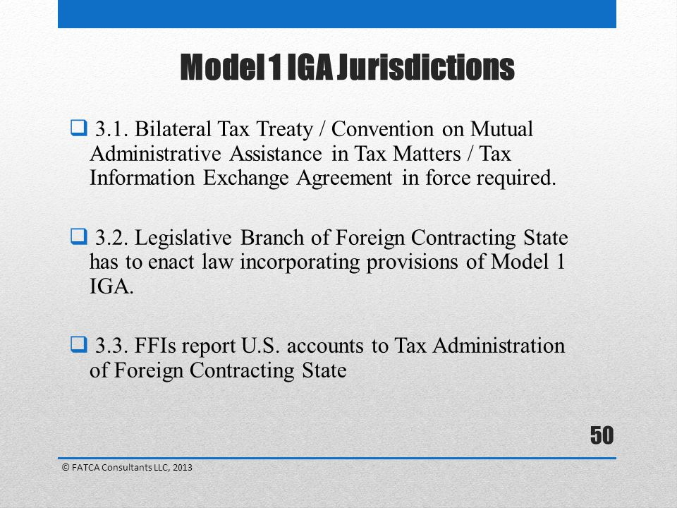 Model 1 IGA Jurisdictions