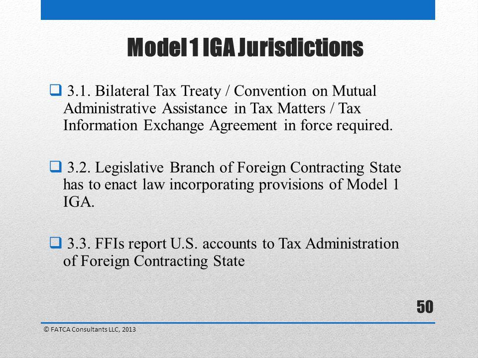 Model 1 IGA Jurisdictions