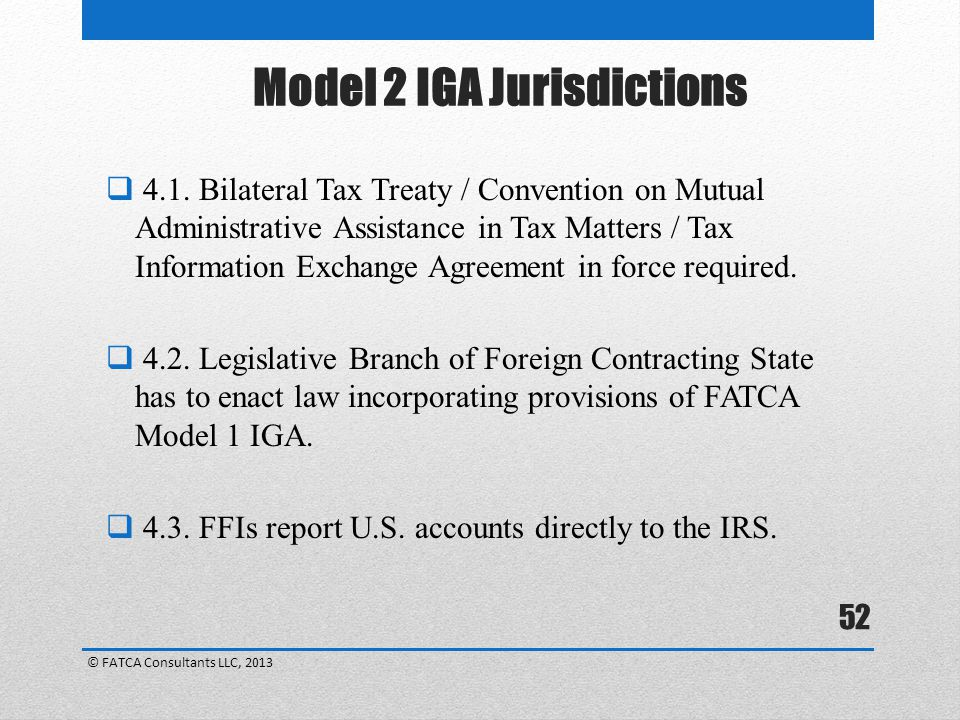 Model 2 IGA Jurisdictions