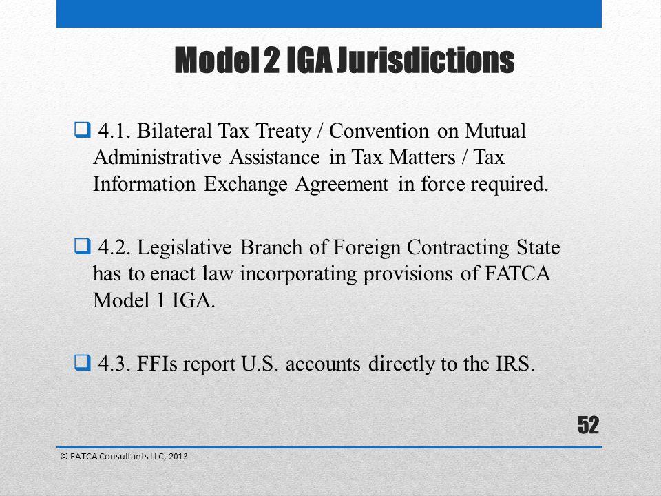 Model 2 IGA Jurisdictions