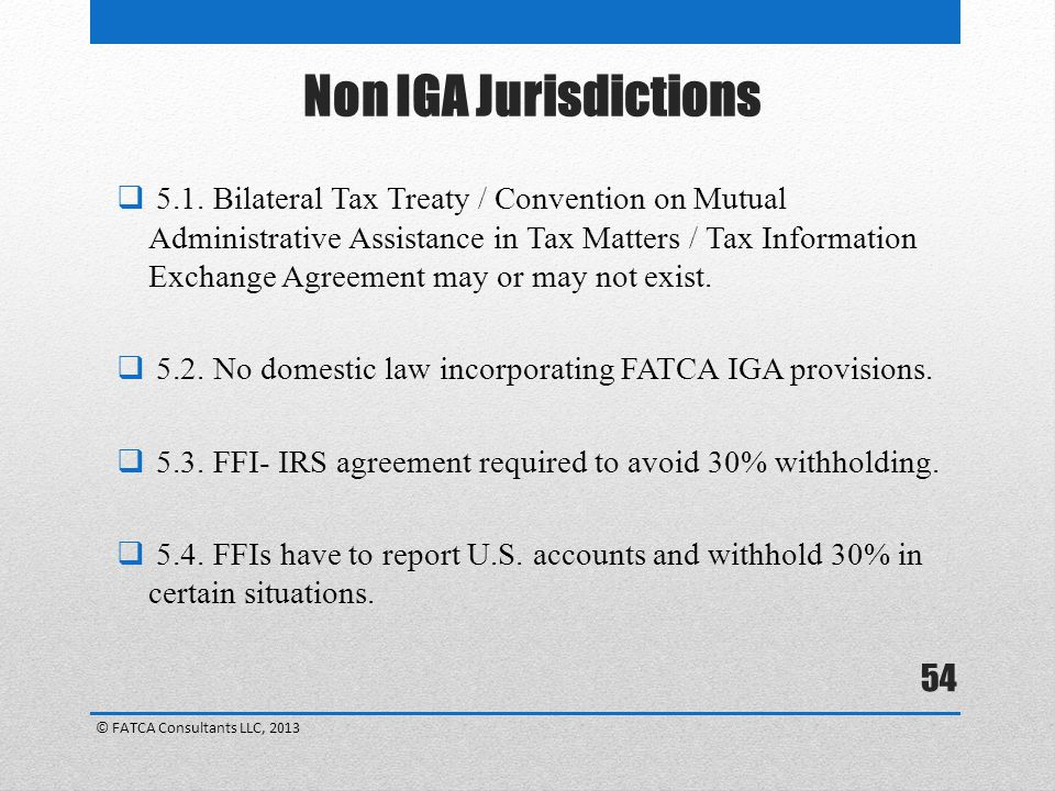 Non IGA Jurisdictions