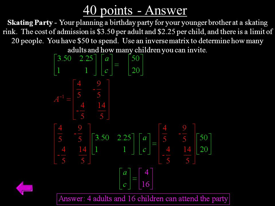 40 points - Answer