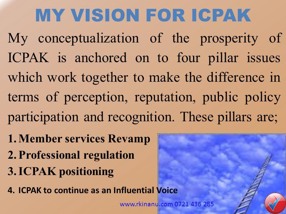 MY VISION FOR ICPAK