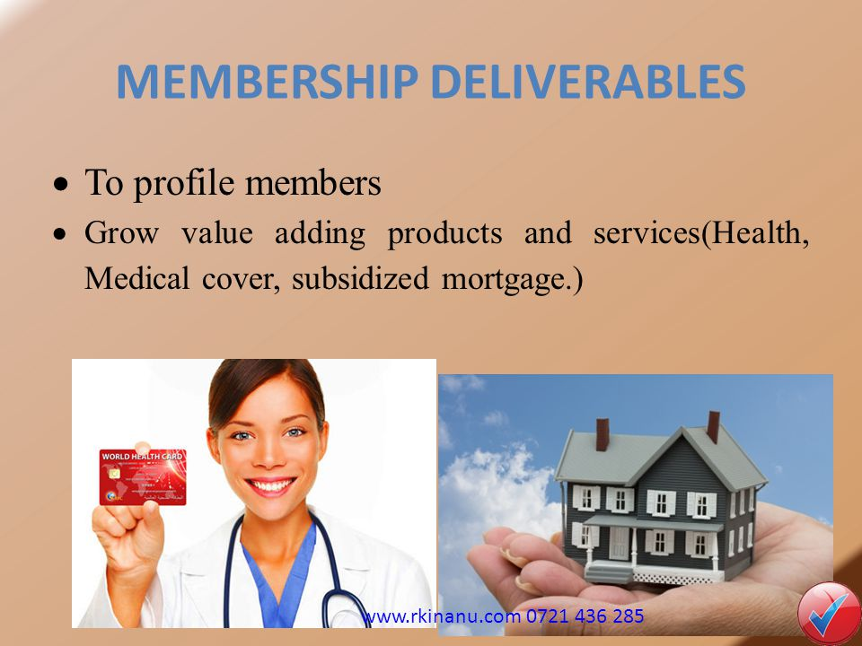 MEMBERSHIP DELIVERABLES
