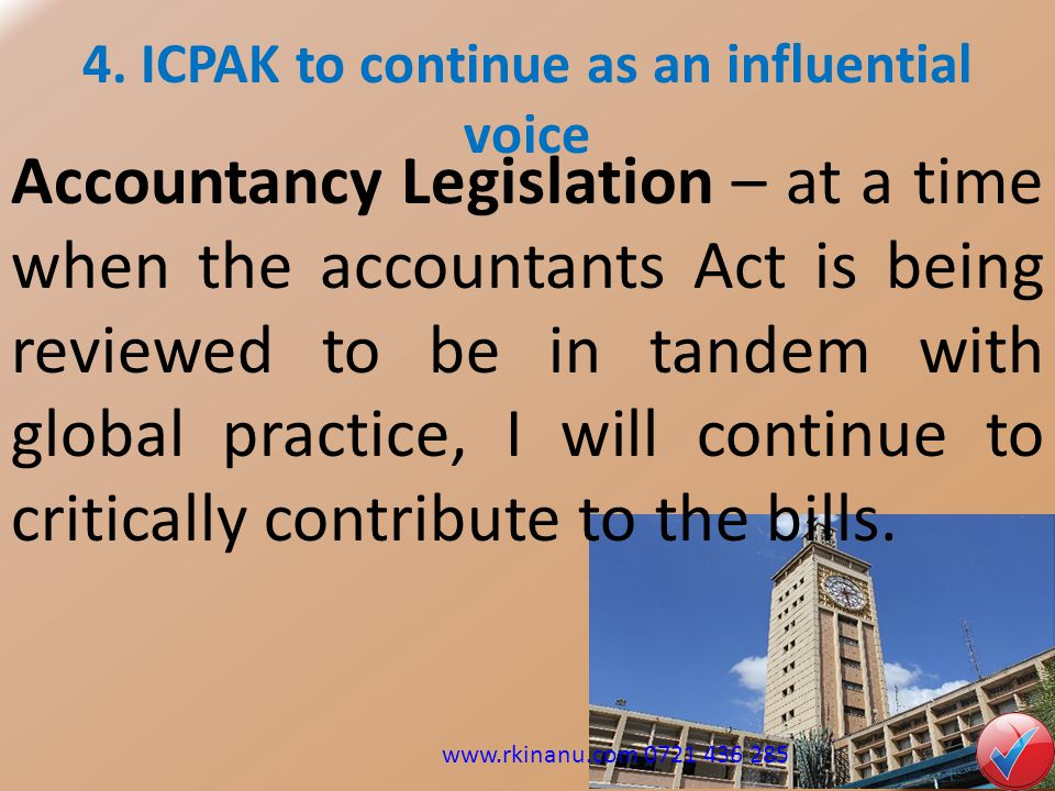 4. ICPAK to continue as an influential voice