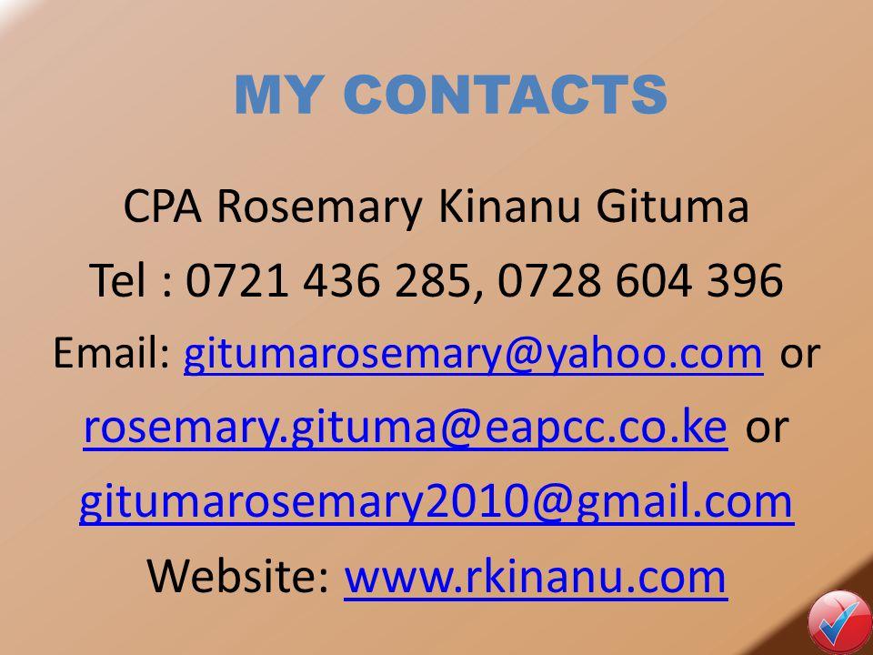 MY CONTACTS CPA Rosemary Kinanu Gituma