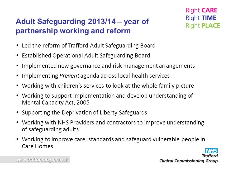 Adult Safeguarding 2013/14 – year of partnership working and reform