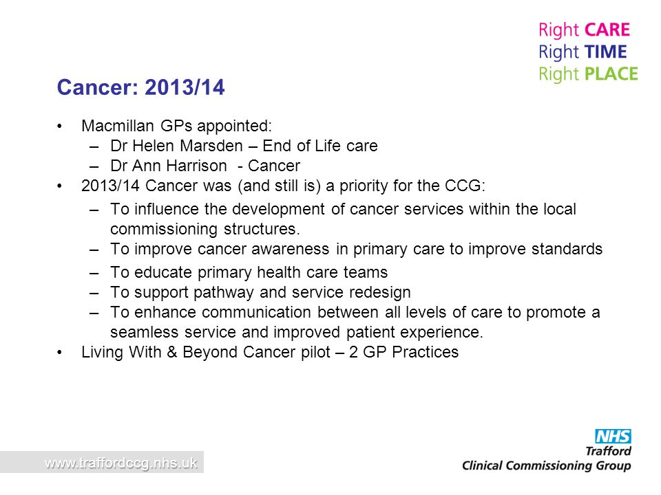 Cancer: 2013/14 Macmillan GPs appointed: