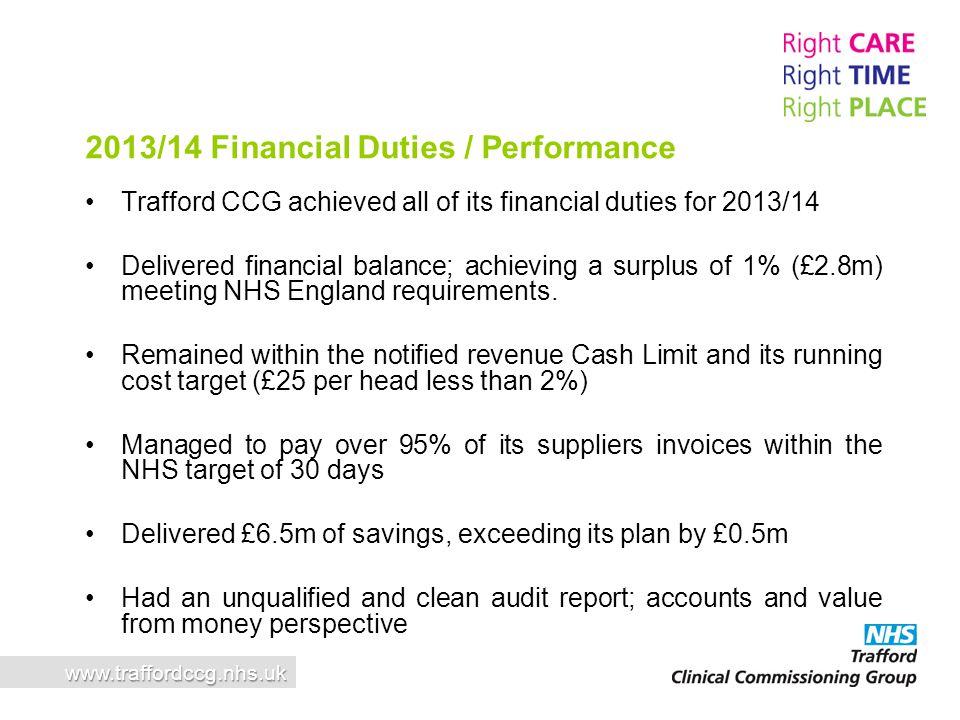 2013/14 Financial Duties / Performance