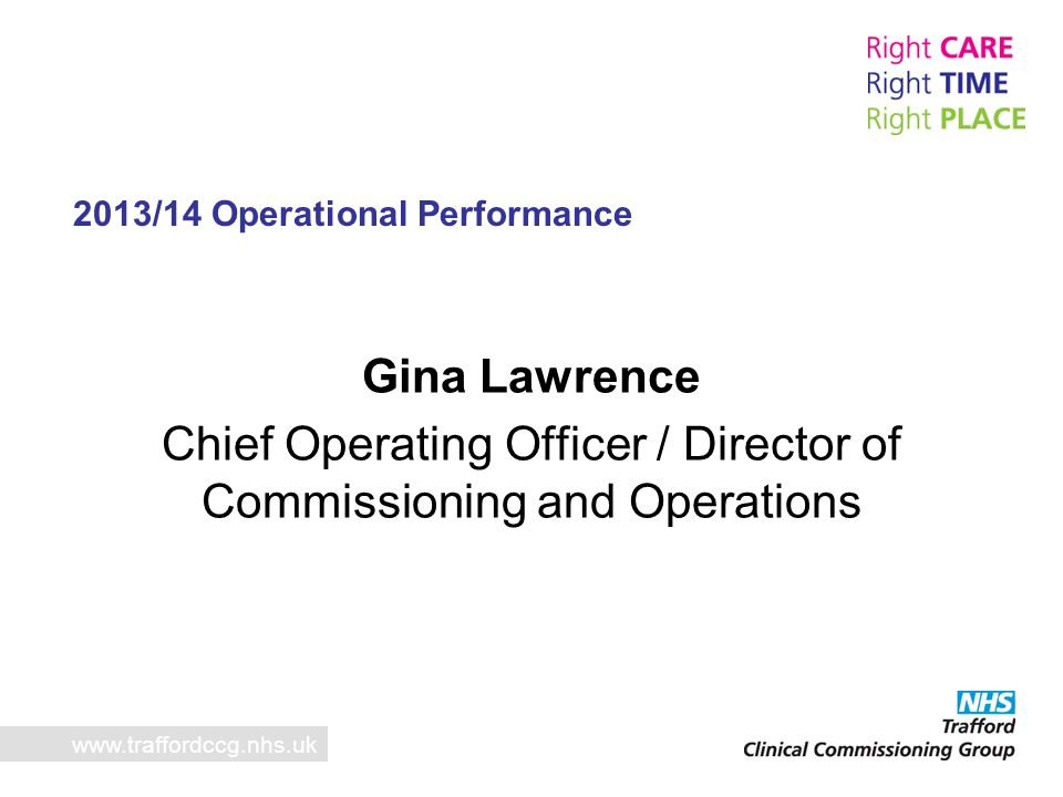 Chief Operating Officer / Director of Commissioning and Operations