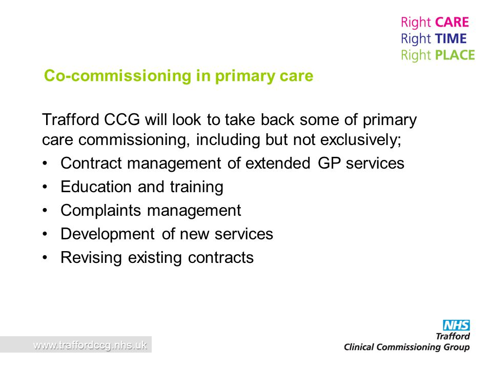 Co-commissioning in primary care