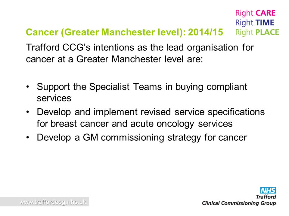 Cancer (Greater Manchester level): 2014/15