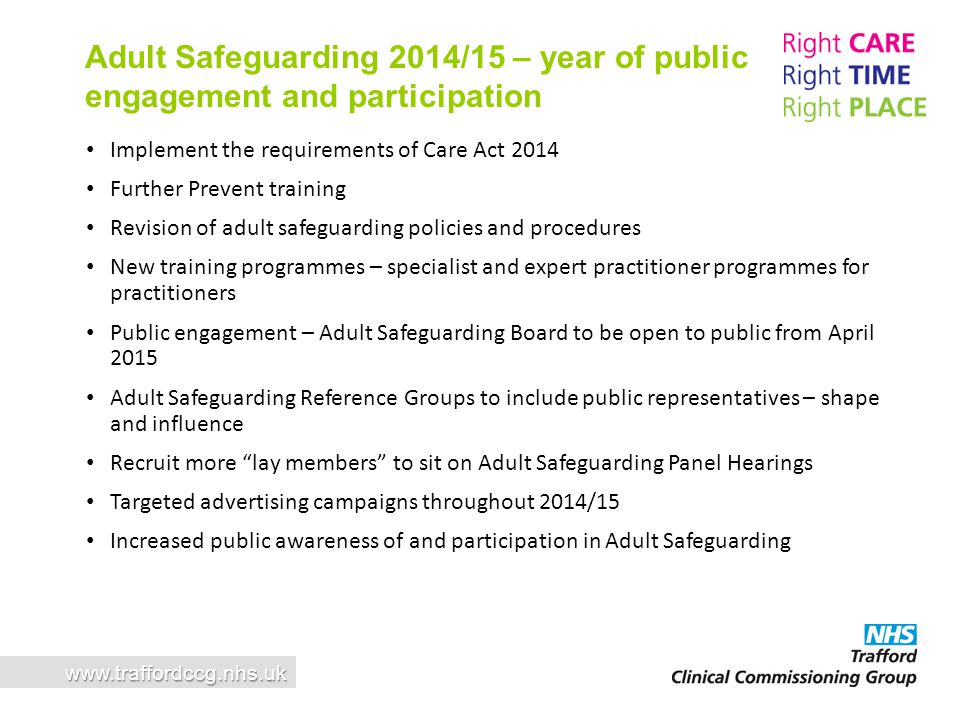 Adult Safeguarding 2014/15 – year of public