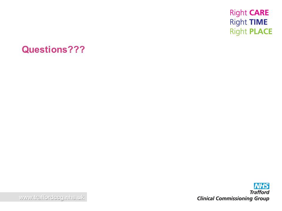 Questions www.traffordccg.nhs.uk