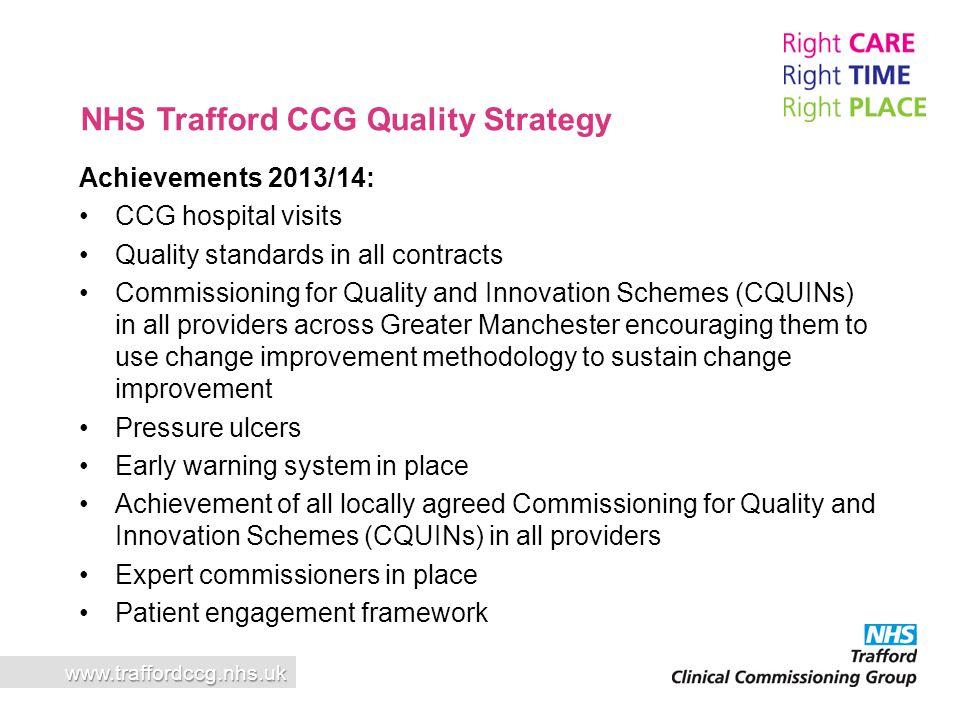 NHS Trafford CCG Quality Strategy