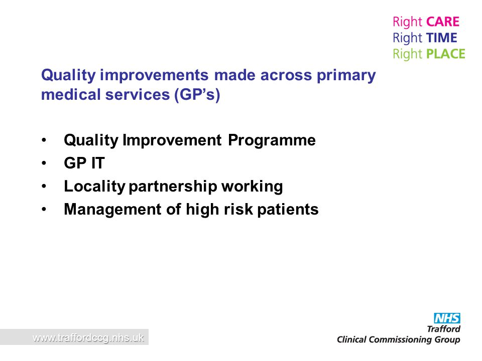 Quality improvements made across primary medical services (GP's)