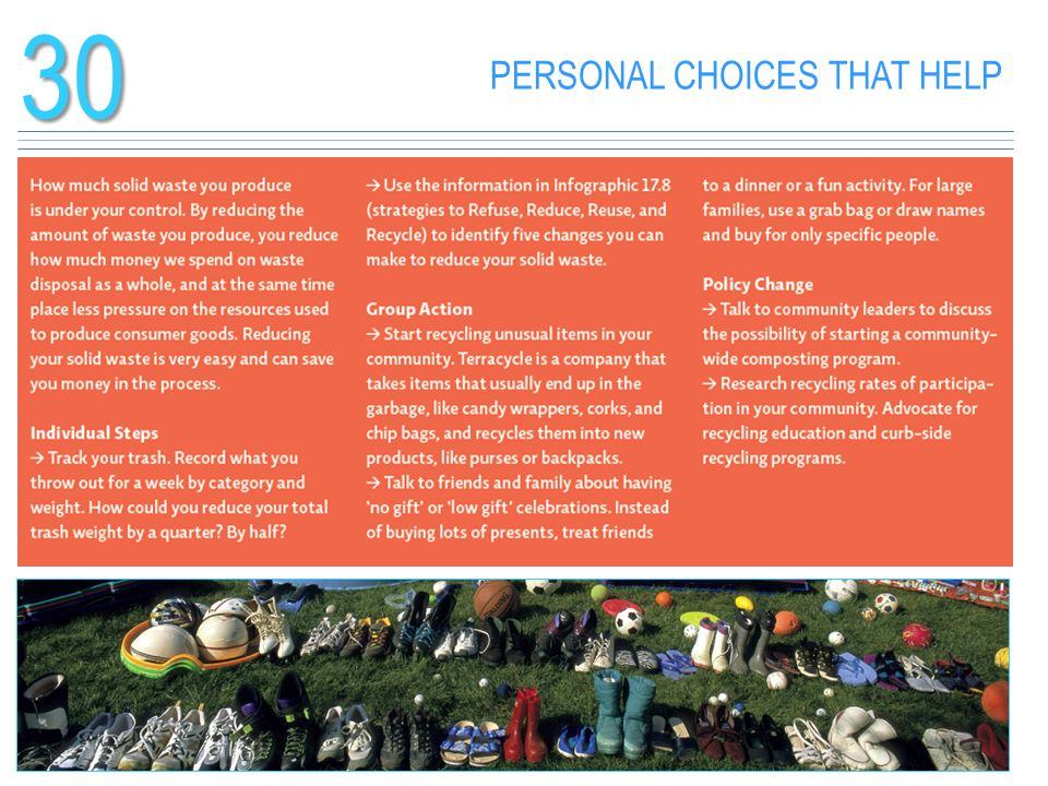 PERSONAL CHOICES THAT HELP