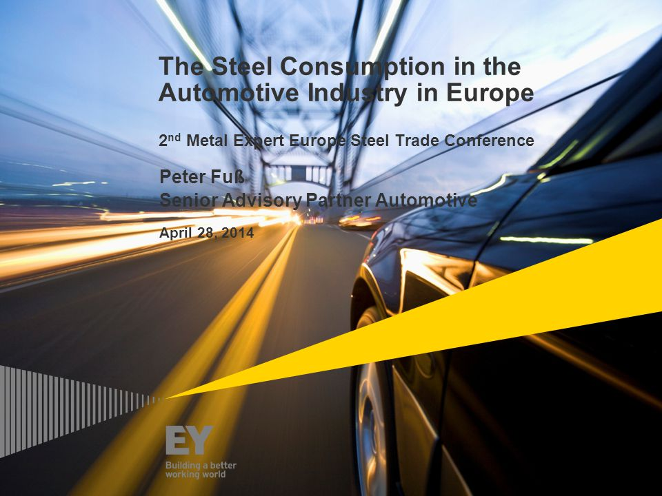 Peter Fuß Senior Advisory Partner Automotive April 28, 2014