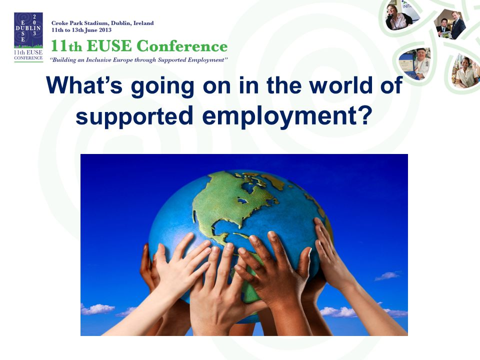 What's going on in the world of supported employment