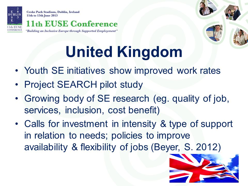 United Kingdom Youth SE initiatives show improved work rates