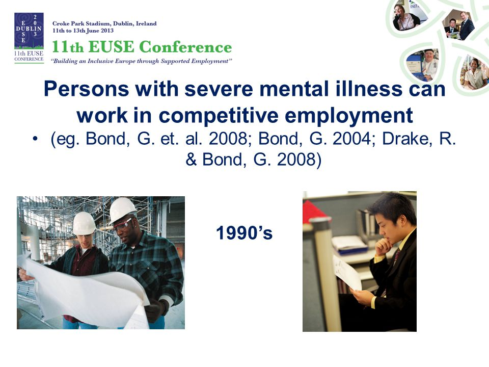 Persons with severe mental illness can work in competitive employment