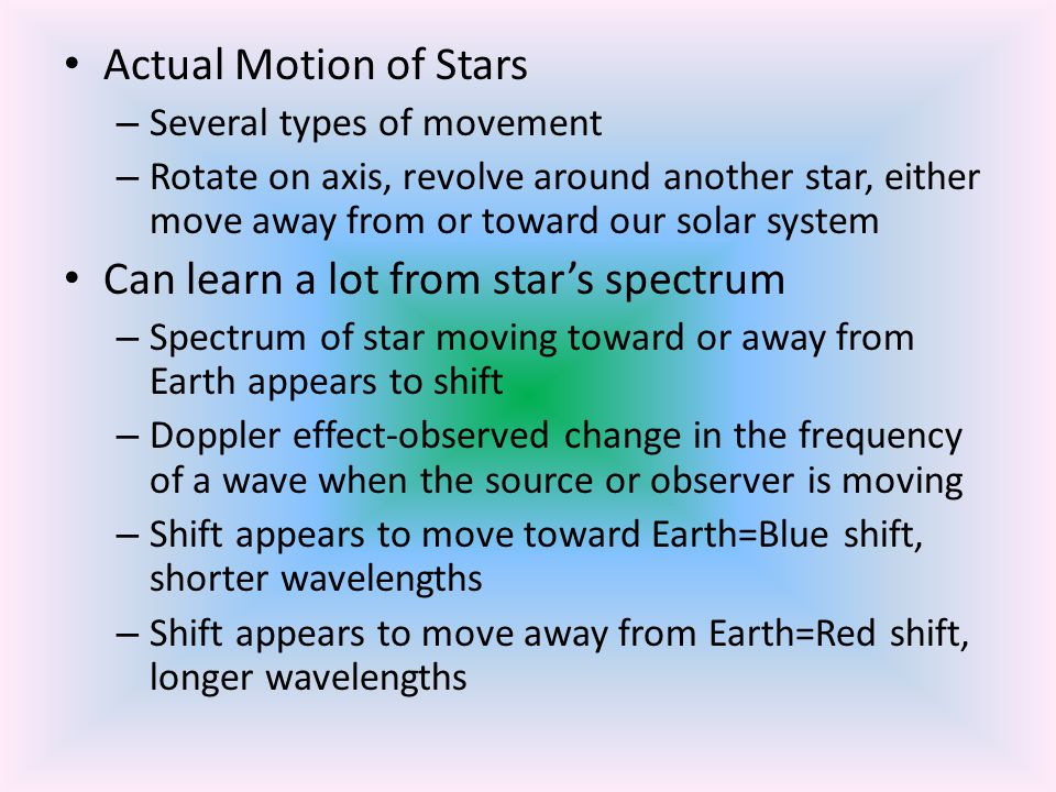 Can learn a lot from star's spectrum