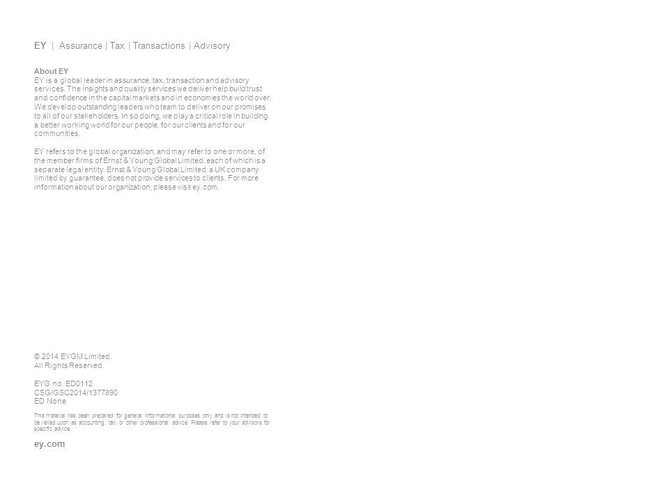 EY | Assurance | Tax | Transactions | Advisory
