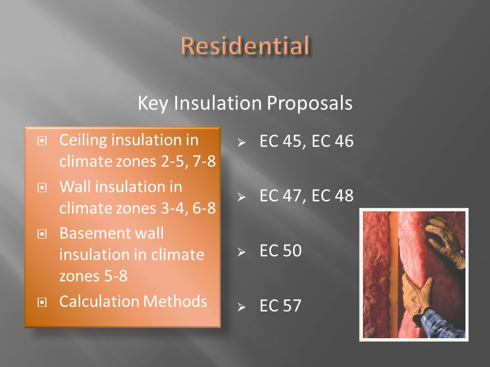 Key Insulation Proposals