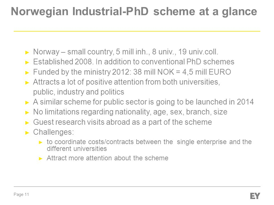 Norwegian Industrial-PhD scheme at a glance