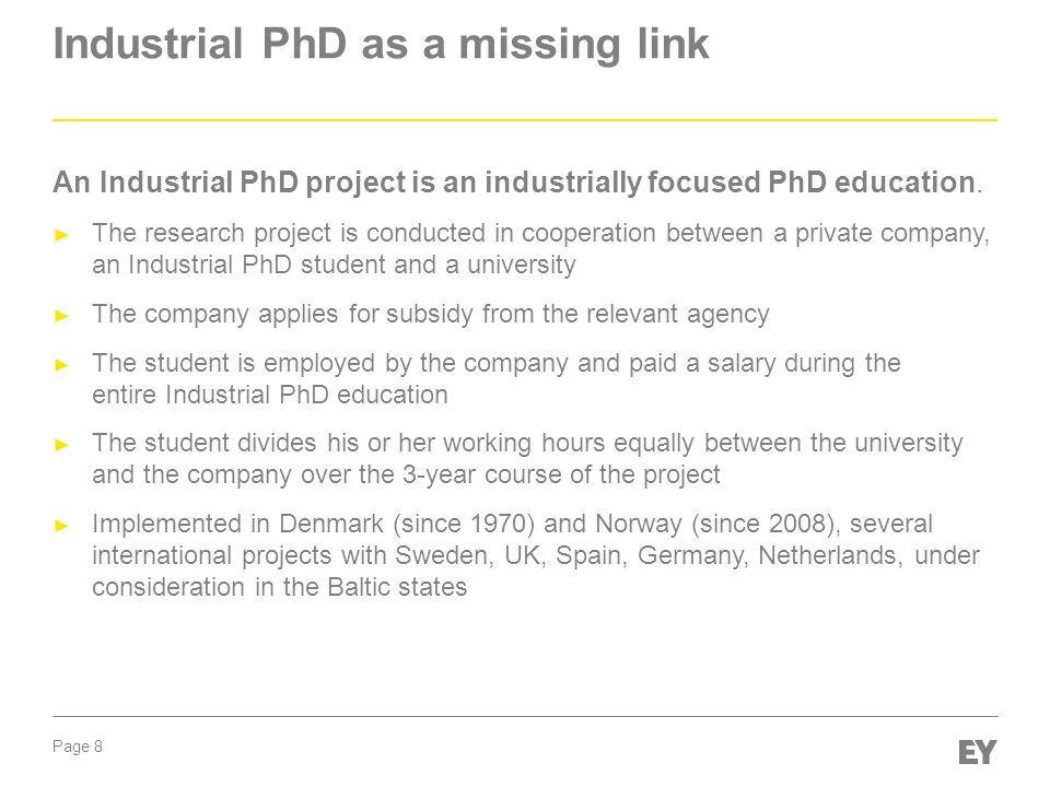 Industrial PhD as a missing link
