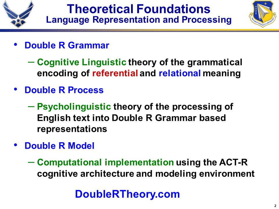 Double r theory january ppt download for R language architecture