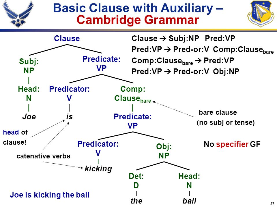 Basic Clause with Auxiliary – Cambridge Grammar