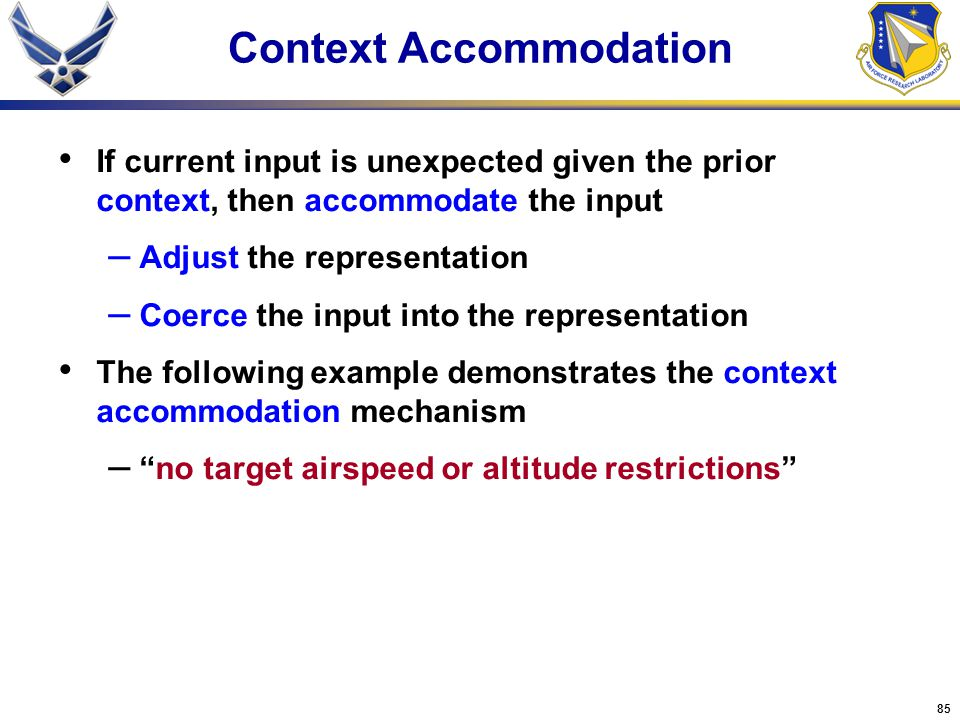Context Accommodation