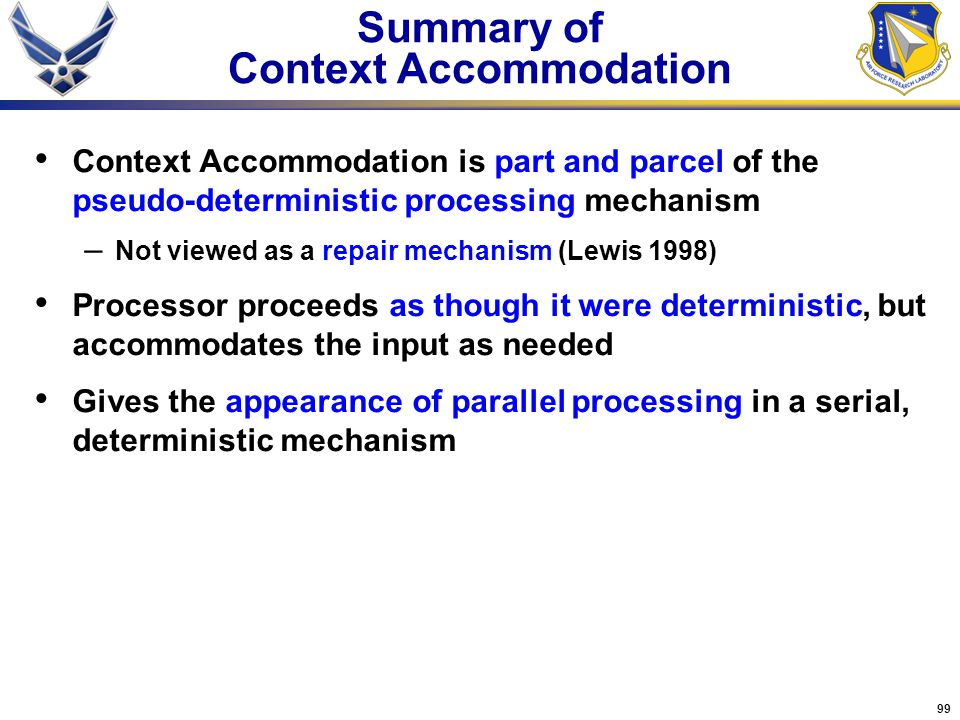 Summary of Context Accommodation