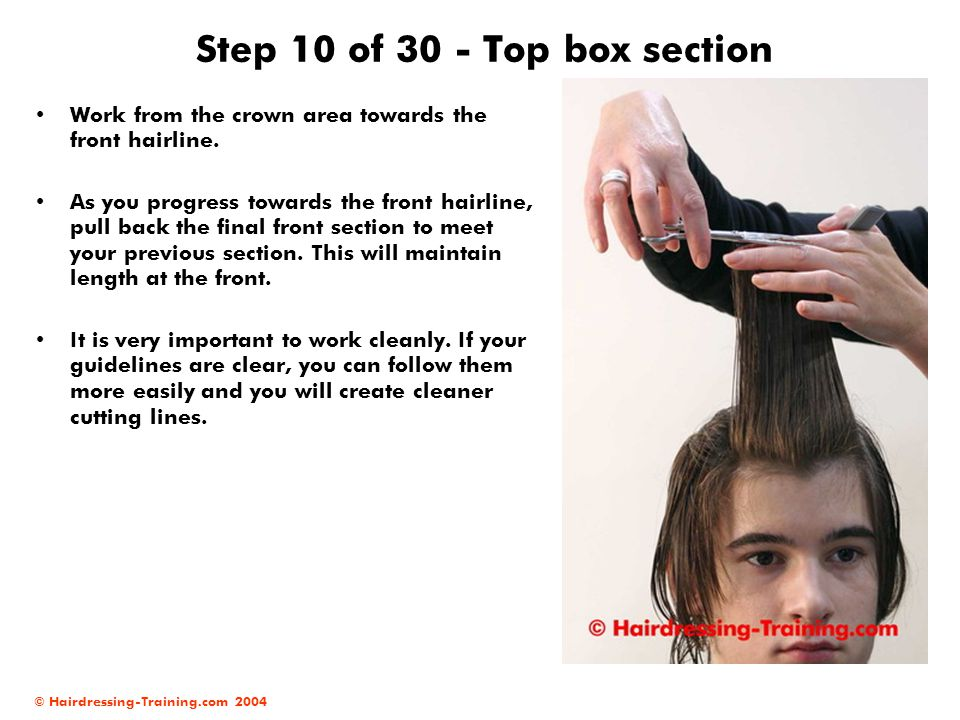 Step 10 of 30 - Top box section