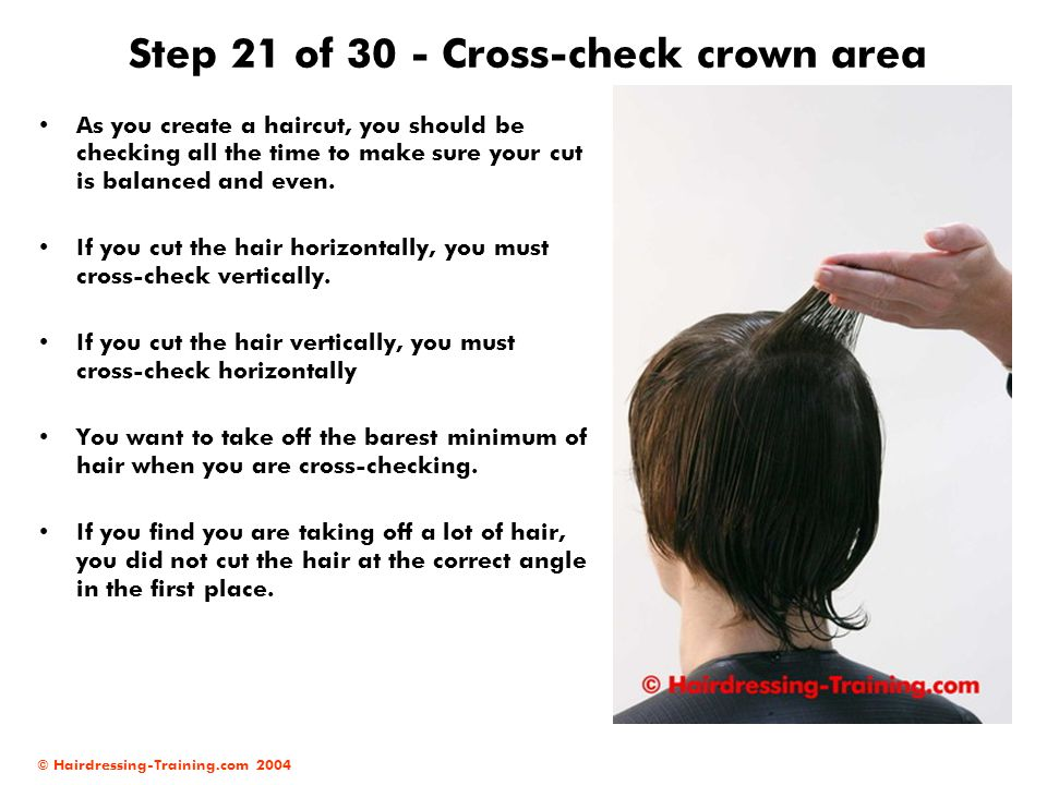 Step 21 of 30 - Cross-check crown area