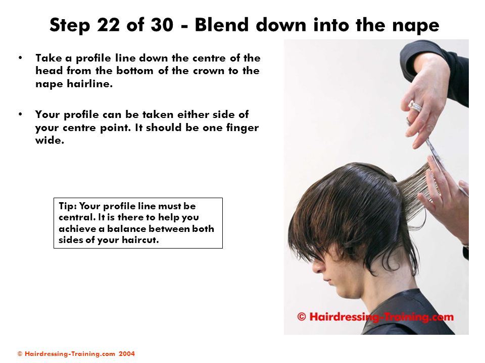 Step 22 of 30 - Blend down into the nape