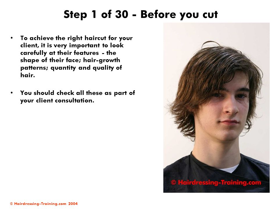 Step 1 of 30 - Before you cut