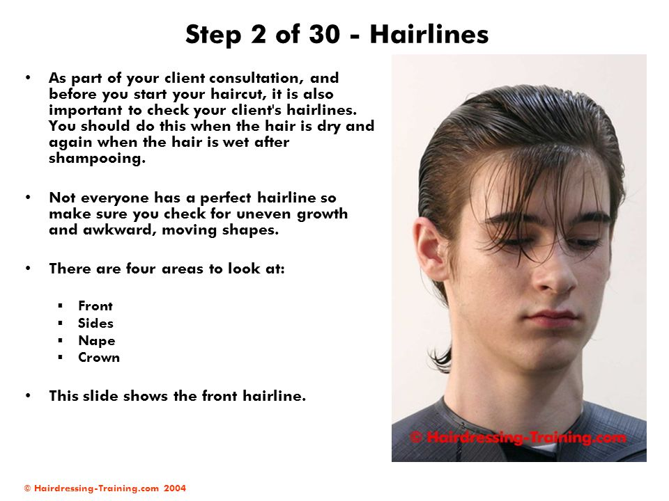 Step 2 of 30 - Hairlines