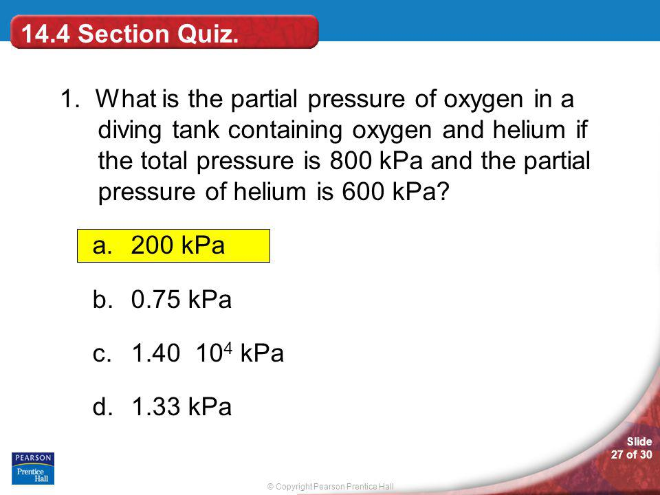 14.4 Section Quiz.
