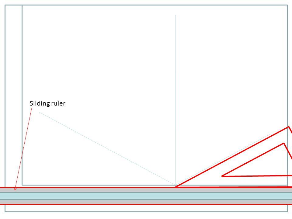 Sliding ruler