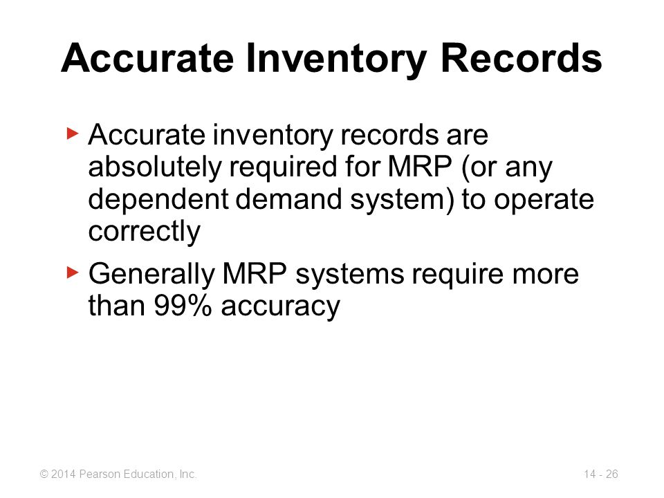 Accurate Inventory Records