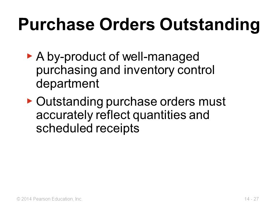 Purchase Orders Outstanding