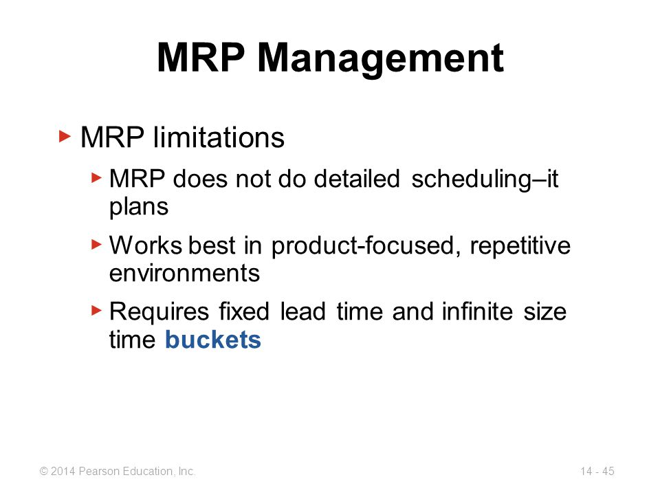 MRP Management MRP limitations