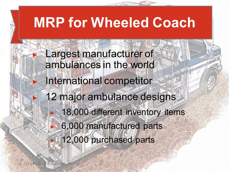 material requirements planning at wheeled coach Answer to mrp at wheeled coachwheeled coach, the world's largest  why  does wheeled coach have excess inventory, and what kind of a plan would you .