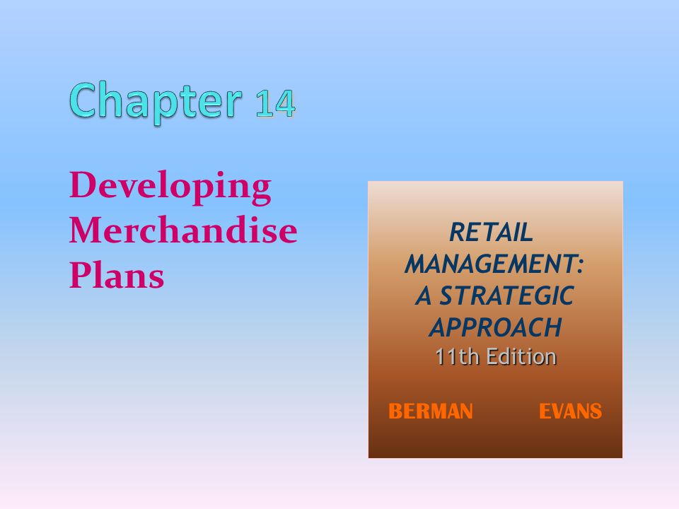 Developing Merchandise Plans