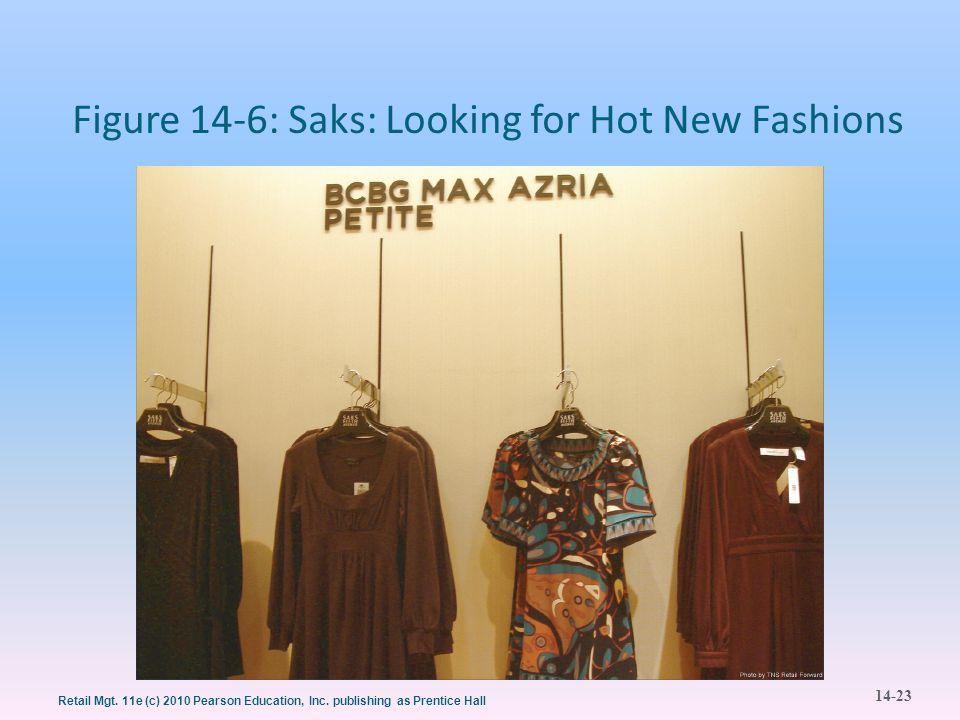 Figure 14-6: Saks: Looking for Hot New Fashions