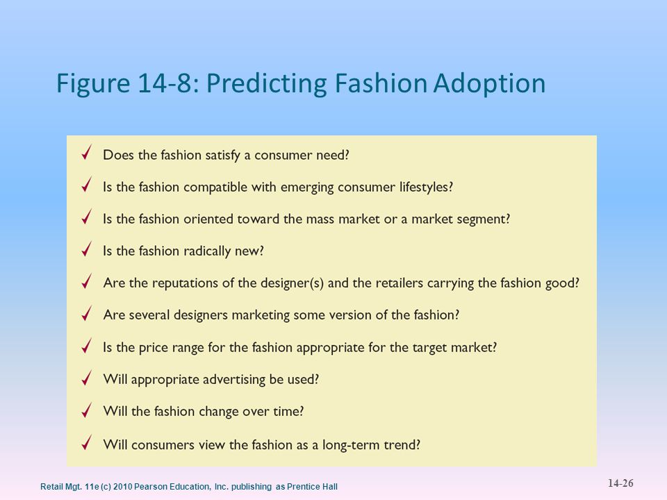 Figure 14-8: Predicting Fashion Adoption