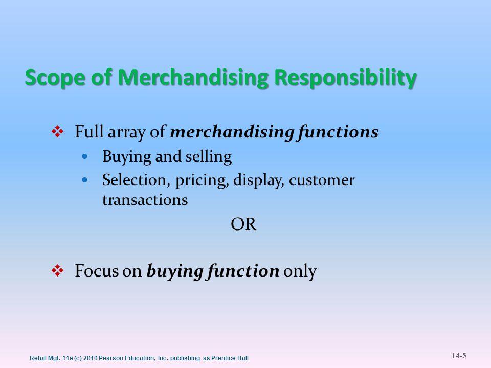Scope of Merchandising Responsibility